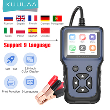KUULAA V311B Car Battery Tester Charger Analyzer 12V 2000CCA Voltage Battery Test Motorcycle Detector Charging Cricut Load Tools