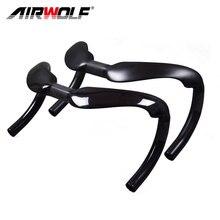 Airwolf углеродный руль для трека спринтер бар падение бар матовая/глянцевая отделка 31,8 мм углеродный изогнутый бар суматохные гонки