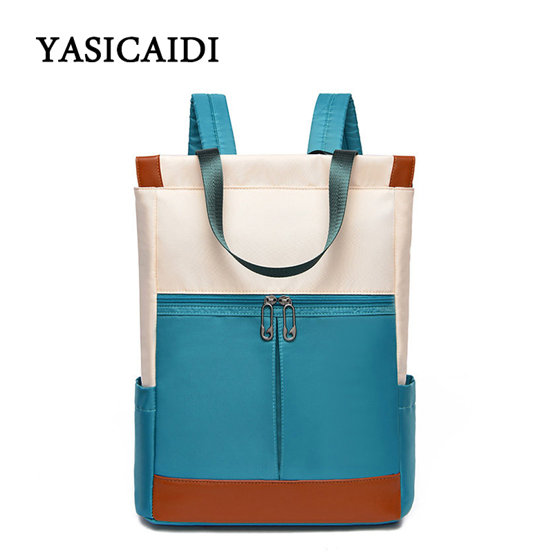 Buy New Autumn/Winter Panelled Backpacks Hot Style Women Large Capacity Laptop Bags Fashion Nylon Women Casual Style Shoulder Bags for only 24.88 USD