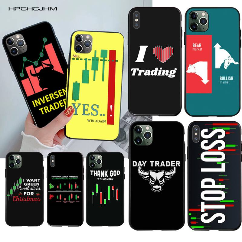 Trade Investment Forex Stock market Black Soft Shell Phone Case Capa for iPhone 11 pro XS MAX 8 7 6 6S Plus X 5S SE 2020 XR case|Half-wrapped Cases|   - AliExpress