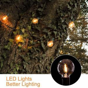 Image 5 - DCOO G40 غلوب سلسلة أضواء الشمسية مع 10/25 واضح LED لمبات خمر الفناء الخلفي أضواء معلقة داخلي/في الهواء الطلق أضواء