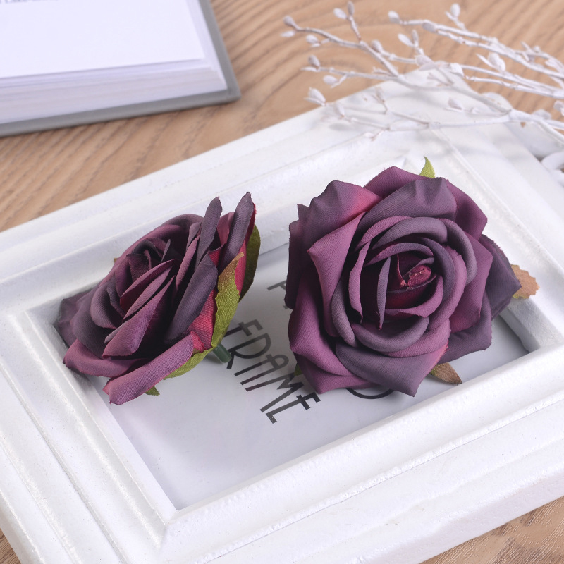 JAROWN Artificial Silk Roses Flowers Scrapbook Wedding Home Decor DIY Gifts Box Christmas Garlands Household Products Fake Flowers (17)