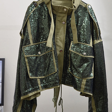 Heavy Craft Stitching Contrast Sequins Sequins Jackets Jackets
