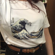 New summer women T-Shirt And So It Is Ocean The Great Wave of Aesthetic tshirts