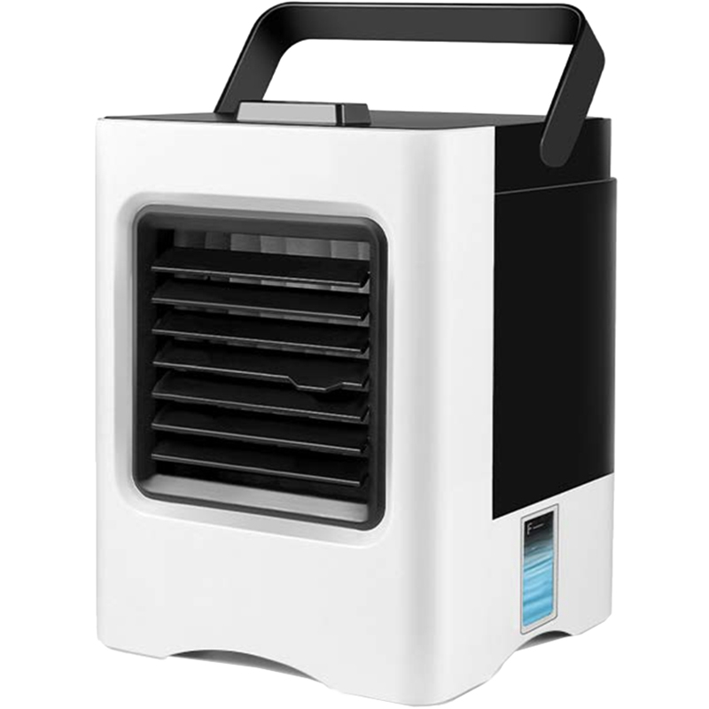 Air Conditioner Fan, 4 In 1 Small Personal Usb Cooler Mini Purifier Humidifier With Led Lights, Desk Fan Cool