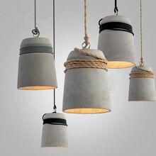 Подвесной светильник в стиле индастриал винтажный лофт из пеньковой