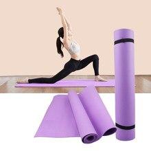 Esteras de PVC de 4MM para Yoga, manta antideslizante de PVC, deporte de gimnasia, entrenamiento de pérdida de peso, almohadilla de ejercicio, esterilla de Yoga y deporte para mujer