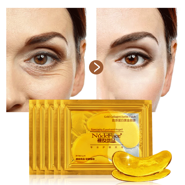 Cosmetics collagen eye zone mask Skin Care Crystal colagen eye mask Gold Eye patches Beauty under eye patches Korean 20pcs 5