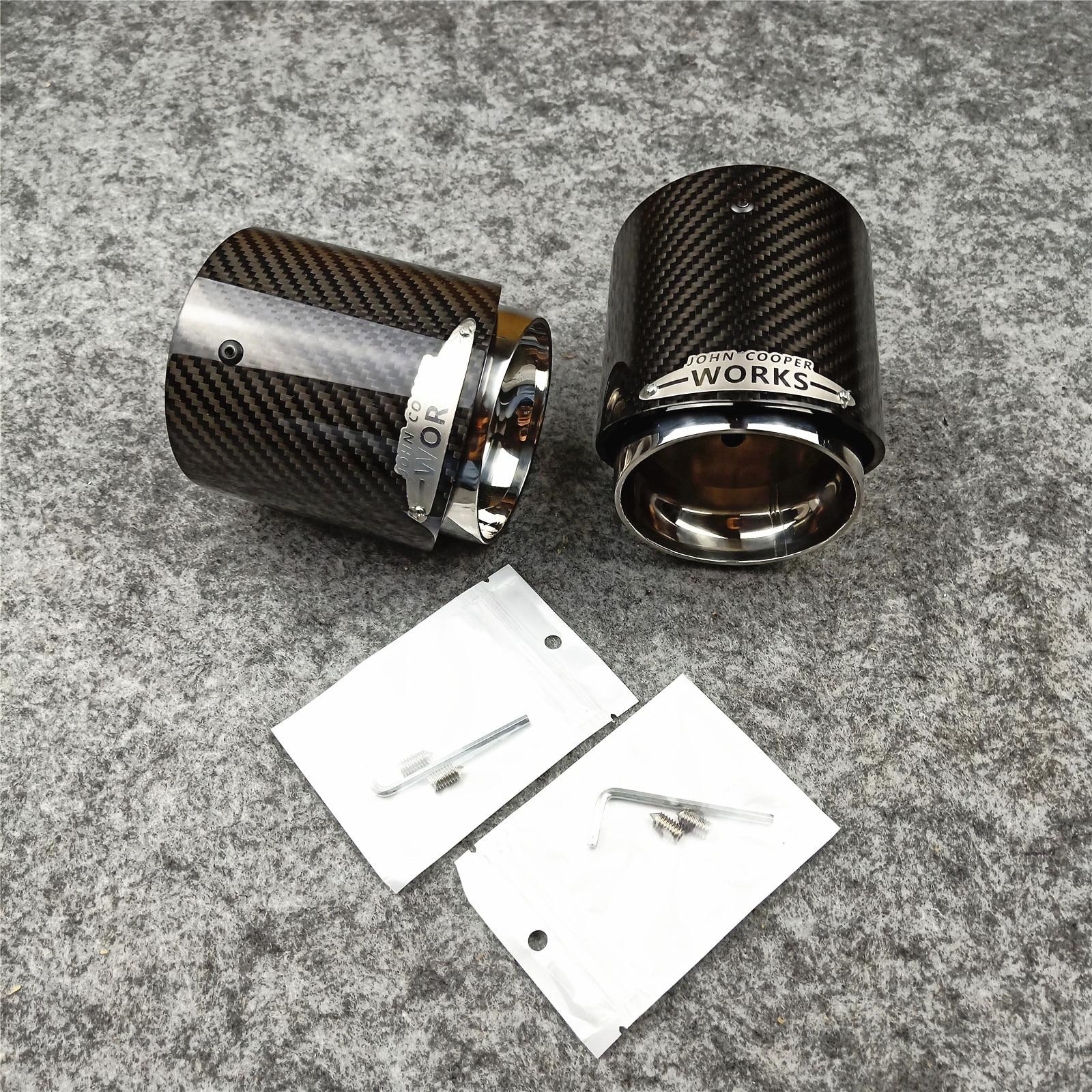 1 PCS 3K Carbon Top Quality Exhaust Muffler Tips for MINI Cooper S  R55 R56 R57 R58 R59 R60 R61 F54 F56 F57 F60Exhaust