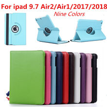 For IPad Air 2 Air 1 Case Cover for IPad 9.7 2018 2017 Case 5 6 5th 6th Generation Funda 360 Degree Rotating Leather Smart Coque(China)
