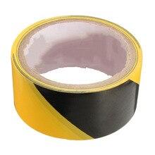 Прочное качество 45 мм черный и желтый самоклеющиеся опасности Предупреждение безопасности ленточная маркировка Безопасность мягкая ПВХ лента