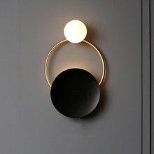 Modern Indoor Golden Wall Sconce Lights Fixture Nordic Ring Bedside Lamps Luminaire Bedroom Living Room Lighting Hallway Decor