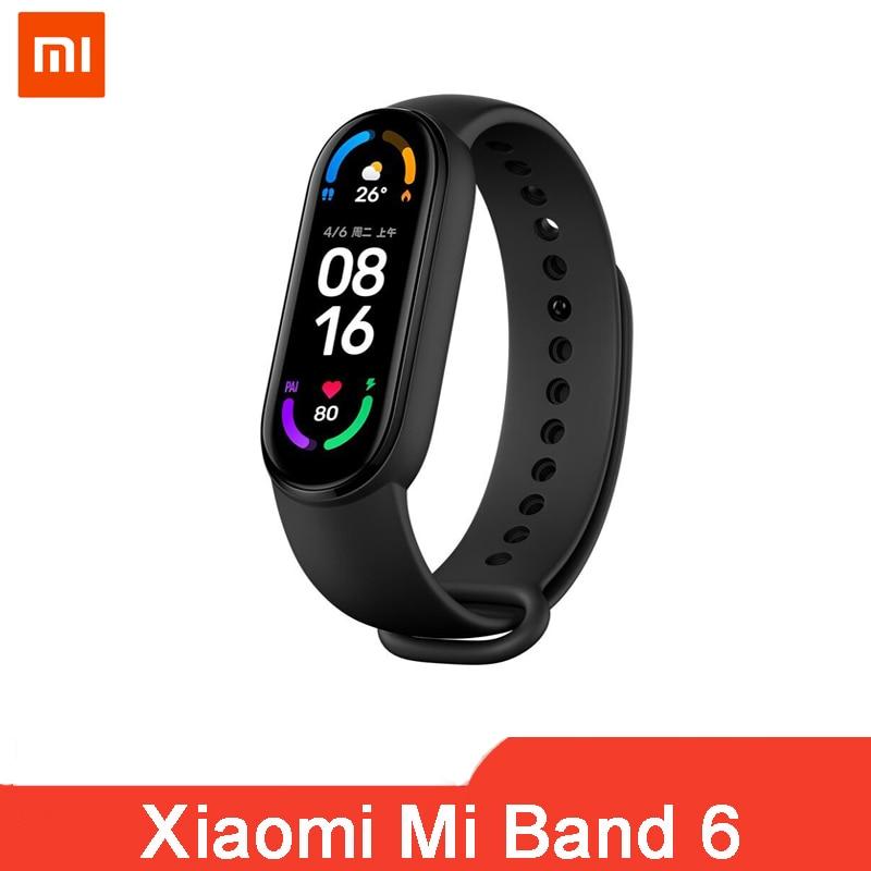 Фитнес-трекер Xiaomi Mi Band 6, 1,56 дюйма, AMOLED, пульсометр, 5 цветов