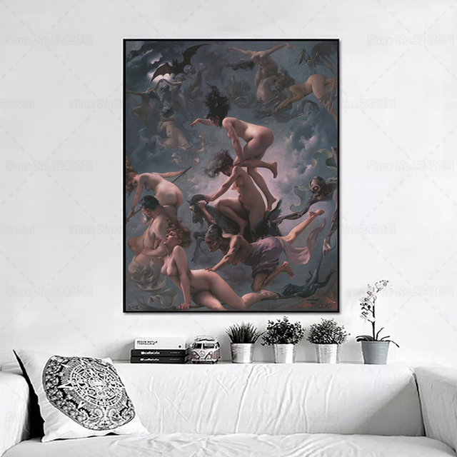 Witches on the Sabbath by Luis Ricardo Falero Printed on Canvas 2
