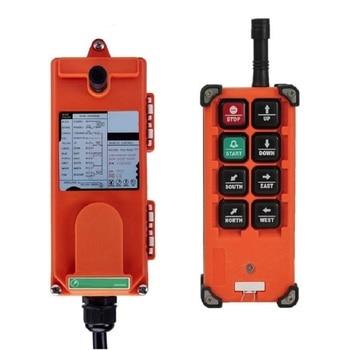 цена на F21-E1B F21-2S AC 220V 110V 380V 36V DC 12V 24V F21-E1B 6 channels 1 speed hoist crane wireless industrial remote controller