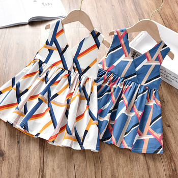 Girls Dress Summer 2020 New Korean Bow Baby Girl Children Clothing Cotton Sleeveless Suspender Dresses 2 3 4 5 6 7 8 9 Years european children clothing lace dresses girls new 2017 summer kids party frocks for girls 2 3 4 5 to 6 7 8 9 10 11 12 years