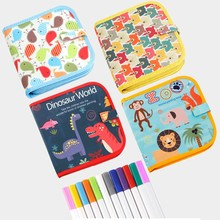 Drawing board kids Portable drawing set for kid Soft Graffiti Erasable Drawing Animal Picture Book DIY Drawing Books L829 цена