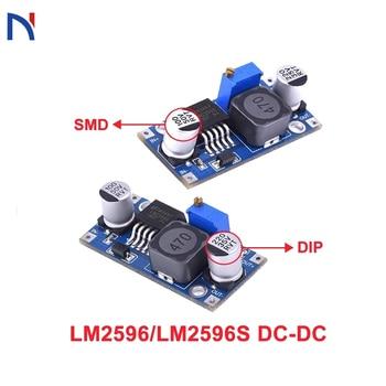 nc dc dc dc 12v to 5v adjustable step down module constant voltage constant current voltage regulator module 30v LM2596 LM2596s DC-DC Step Down Power Supply Module 3A Adjustable Step Down Module LM2596S-ADJ Voltage Regulator 24V 12V 5V 3V
