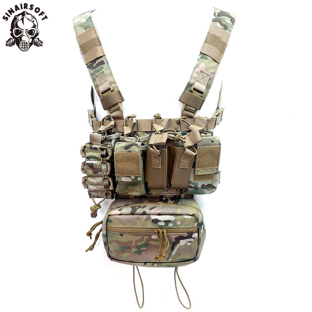 Outdoor USMC Paintball Hunting Clothes Airsoft Tactical Vest Combat Multi-pocket Equipment Military Gear Chest Rig Battlefield