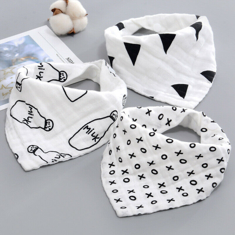 Newborn Baby Girl Boy Saliva Towel Triangle Head Scarf Bandana Kids Feeding Bibs