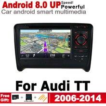 цена на Android Car DVD GPS For Audi TT 8J 2006 2007 2008 2009 2010 2011 2012 2013 2014 MMI Navigation Multimedia Player Stereo System