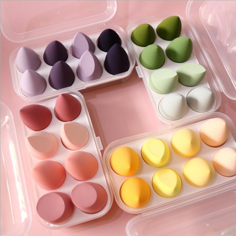 8 штук пуховка для пудры спонж для макияжа Набор Красота блендер основа для макияжа лица нанесите косметическая губка для яиц для лица Уход ...