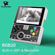 Игровая консоль POWKIDDY, игровая консоль с открытым исходным кодом и встроенным Wi-Fi модулем, 3,5 дюйма, RGB20, RK3326