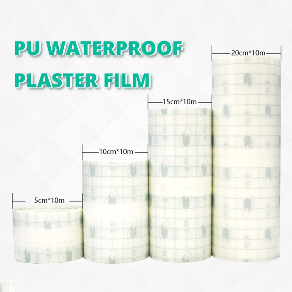 Medical Transparent Tape PU Film Adhesive Plaster Waterproof Anti-allergic Medicinal Wound Dressing Fixation Tape