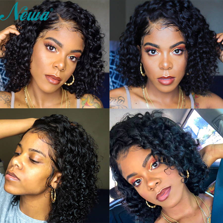 Best Price 9bc3a4 Short Full Lace Human Hair Wigs With Baby Hair Curly Full Lace Wigs Pre Plucked Bleached Knots Remy Lace Front Bob Wigs Newa Cicig Co