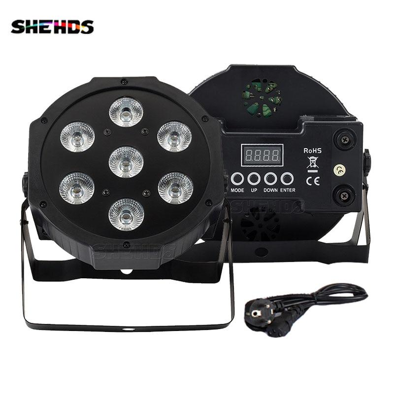 4Pcs 7x18W RGBWA+UV LED Par Light DMX512 Mobile Plug Power In/Out Profession for Party KTV Bar dj Disco SHEHDS Stage Lights