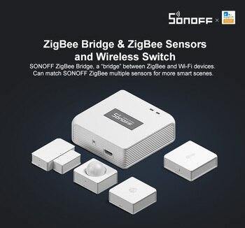Puente SONOFF ZigBee/interruptor inalámbrico/Sensor de humedad de temperatura/Sensor de movimiento/Sensor de ventana de puerta inalámbrico/para Alexa Google Home