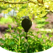 Retractable balcony greenhouse wall flower pot wrought iron hook free hanging