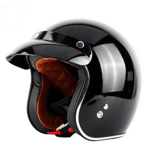 Image 4 - בציר moto rcycle קסדת TORC T50 פתוח פנים DOT אישר חצי קסדת רטרו moto casco capacete moto ciclistas capacete