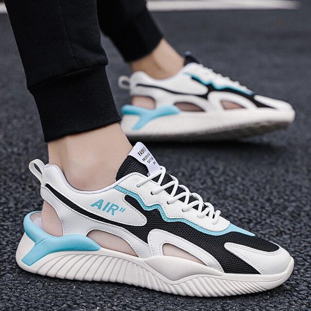QGK-Sandalias deportivas transpirables para hombre, zapatos informales antideslizantes, para exteriores y playa, para verano 3