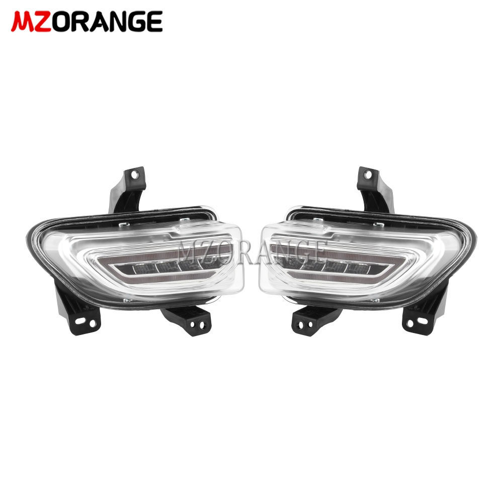 For Jeep Renegade 2015-2018 LED DRL Headlight Fog Lights Headlights Fog Light Daytime Running Lights Driving Lights Foglights
