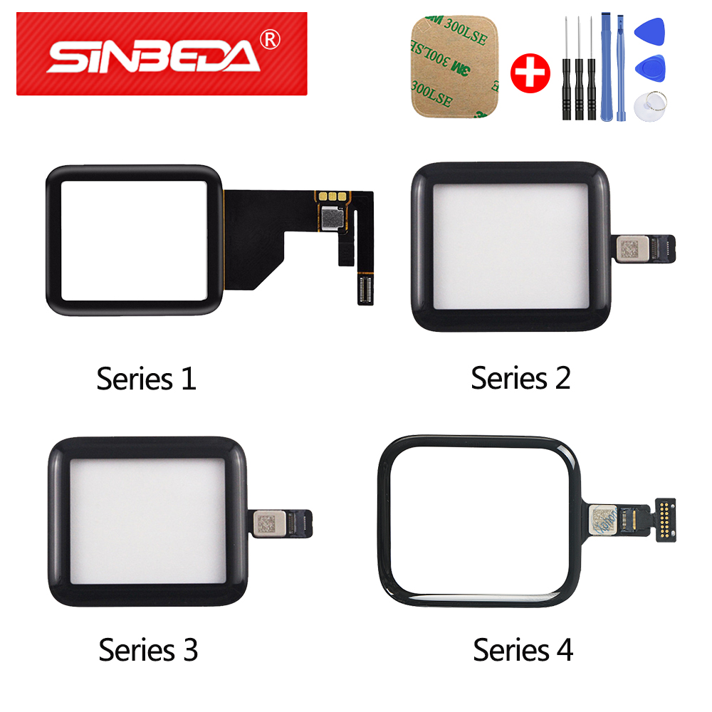 Sinbeda For Apple Watch Series 1 2 3 4 5 Touch Screen Digitizer For Apple Watch Series 5 Touch Panel Replacement 42mm/38mm/44mm