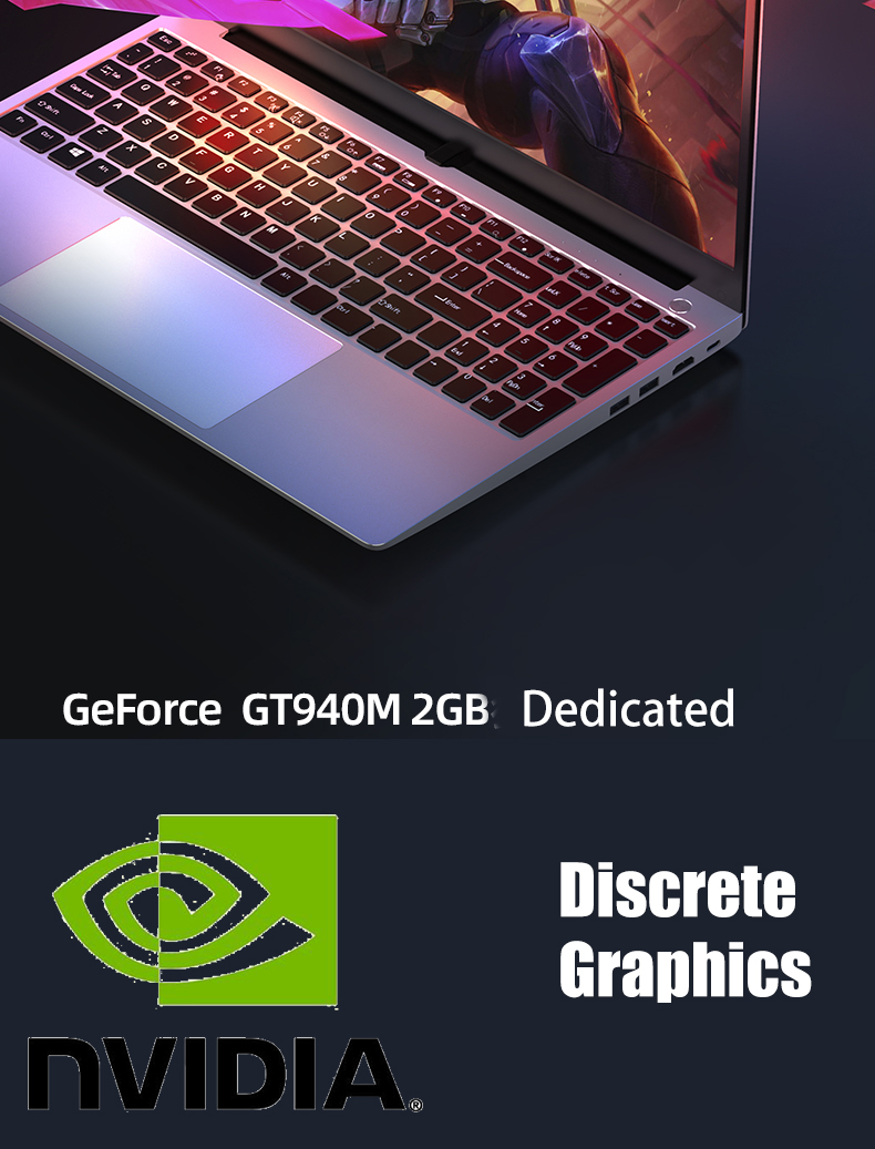 15.6inch Core I7 6500U gaming laptop dedicated graphics 8GB RAM 256GB SSD + HDD 1920*1080 screen aluminium notebook computer
