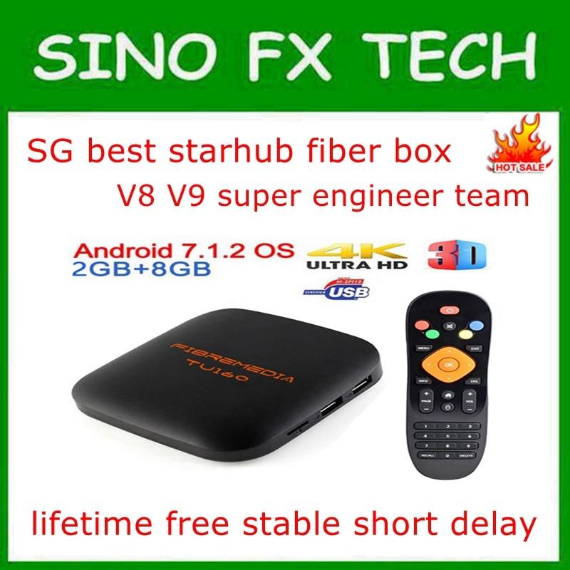 Fibremedia TU160 Singapore Stable Starhub Fiber TV Box Lifetime Free Starhub Live Channels VOD TV Series Pk Fibrebox S8