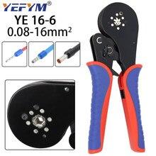0.08-16mm2 YE 16-6 rurowy terminal narzędzia do zaciskania mini szczypce zaciskania dużych rozmiarów terminali precyzyjny zestaw zacisków elektrycznych
