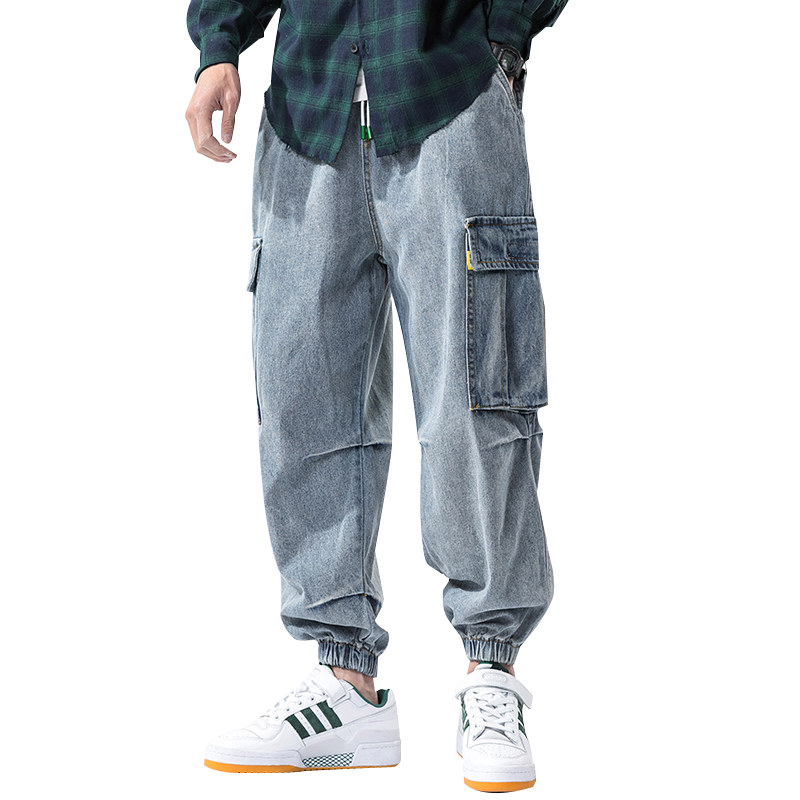 IiDossan Hip Hop Oversize Jeans Men Pants 2020 Japanese Streetwear Harajuku Joggers Jeans Men Baggy Pockets High Quality Denim