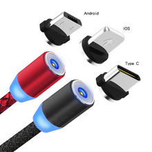 Magnetic USB Cable Fast Charging lighting Type C Cable Magnet Charger Data Charge Micro USB C Cable Mobile Phone Cable USB Cord magnetic adsorption usb charging cable micro type c lighting for iphone x fast charge charger cord for xiaomi mobile phone cable