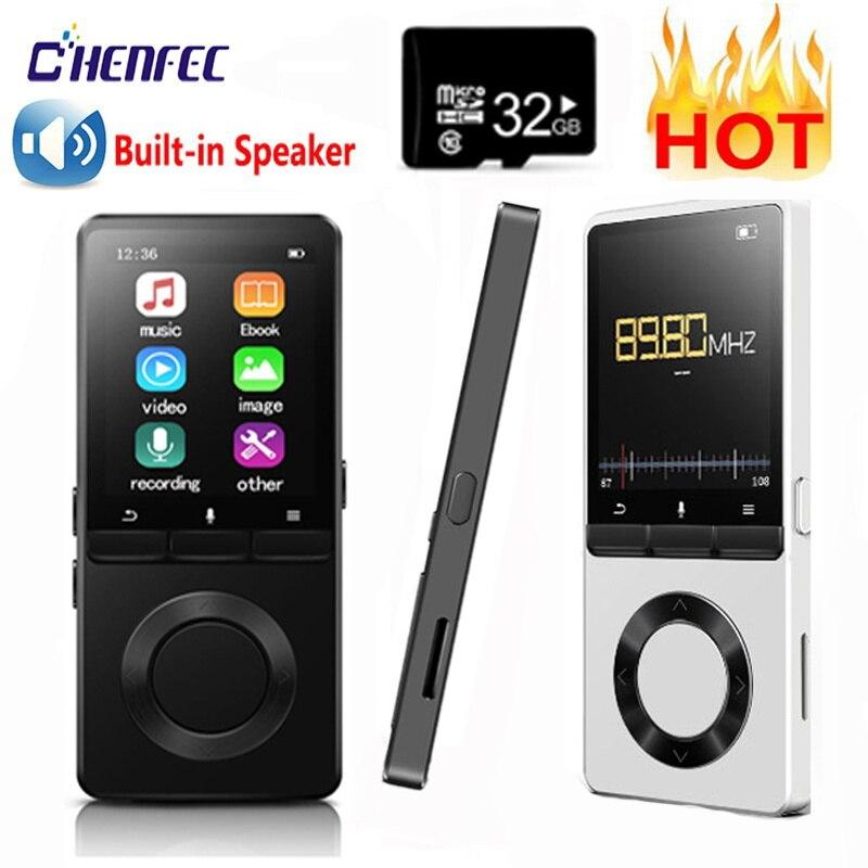 Новый MP3-плеер с динамиком, металлический Портативный Hi-Fi музыкальный плеер с FM-радио, электронная книга, спорт для Walkman, поддержка TF-карты до ...