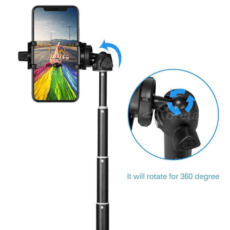 Roreta przenośny bezprzewodowy kijek do selfie Bluetooth uchwyt do selfie składany statyw z Bluetooth pilot USB ładowania