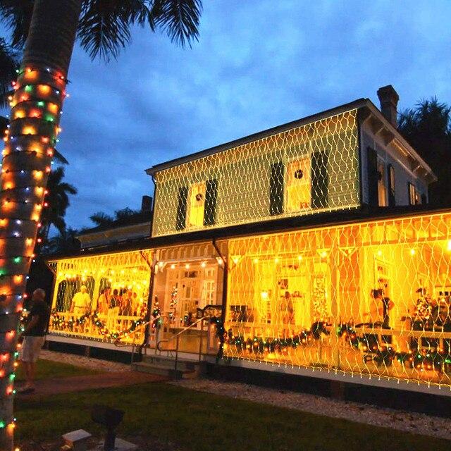 Купить 15x15/3x 2/6x4 м ажурные гирлянды рождественские огни сказочная картинки цена