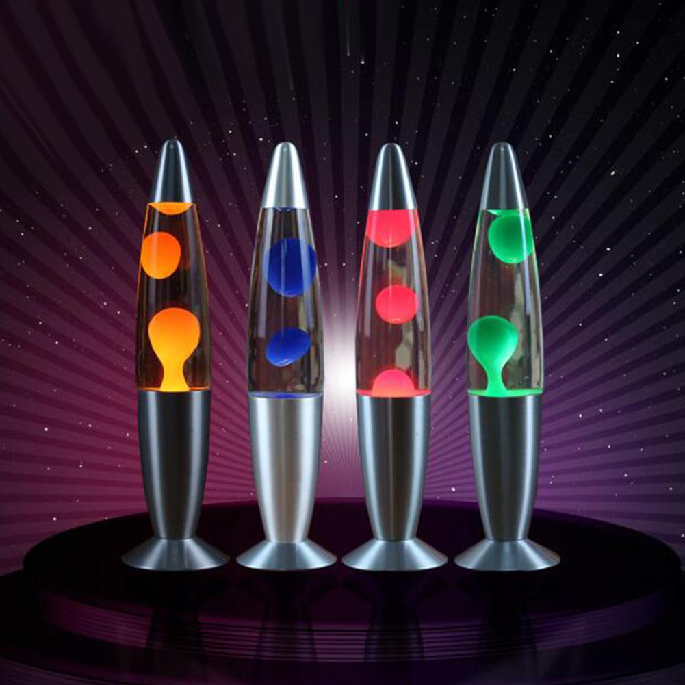 HobbyLane Metal Base Wax Lava Lamp Night Light For EU Plug Living Room Bedroom Office Tabletop Decoration Decor