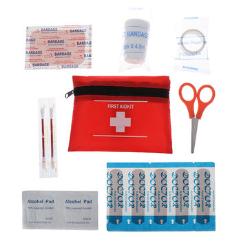 8pcs/set Household Waterproof Mini Outdoor Travel Car First Aid kit Home Small Medical Box Emergency Survival kit image