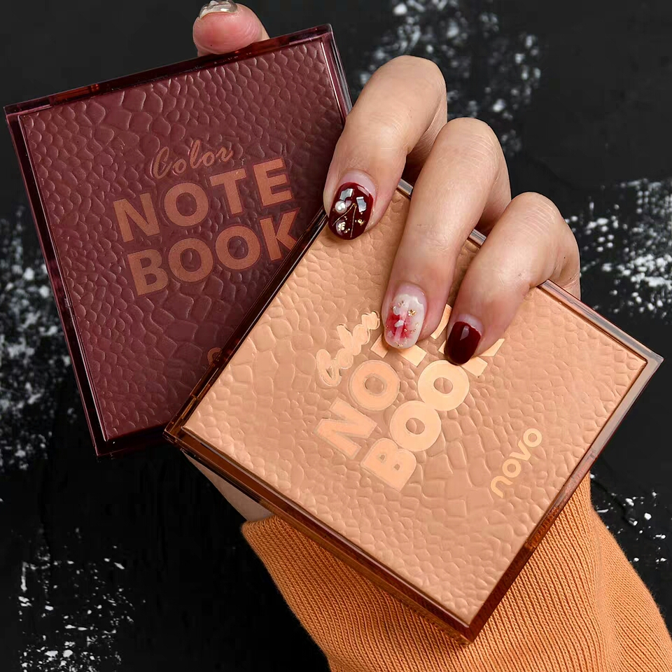 Colorful Note Book Eye Shadow Nude Color Matte Glitter Sequins Shimmer Eyes Makeup Waterproof Long Lasting Pigment Charming Eyes