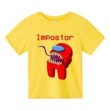Camiseta Delgada De AlgodóN Para NiñOs Y NiñAs, Camisetas De Videojuego De 3 A 13 AñOs, Ropa De Anime De Amongus Para BebéS