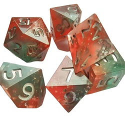 New Dnd dice set 7pcs/Set Game Dice Upscale Resin Polyhedral Dice rpg dice dadi dados rol D6 D20 Playing dice