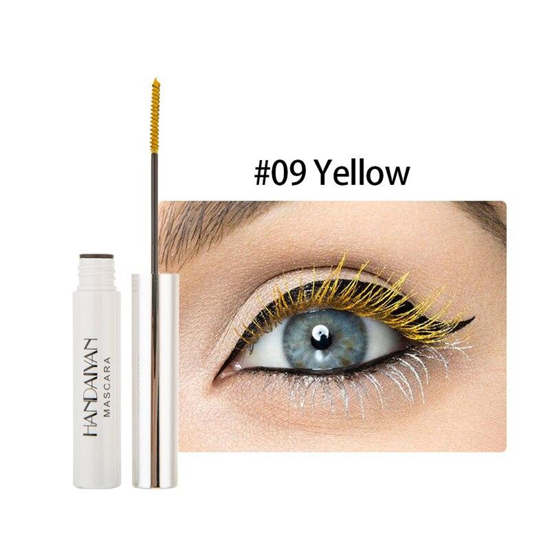 Цветная тушь водостойкие ресницы, Подкручивающая, удлиняющая, густой объем, макияж, ресницы для глаз, быстро сохнут, стойкий макияж для красоты - Цвет: 9